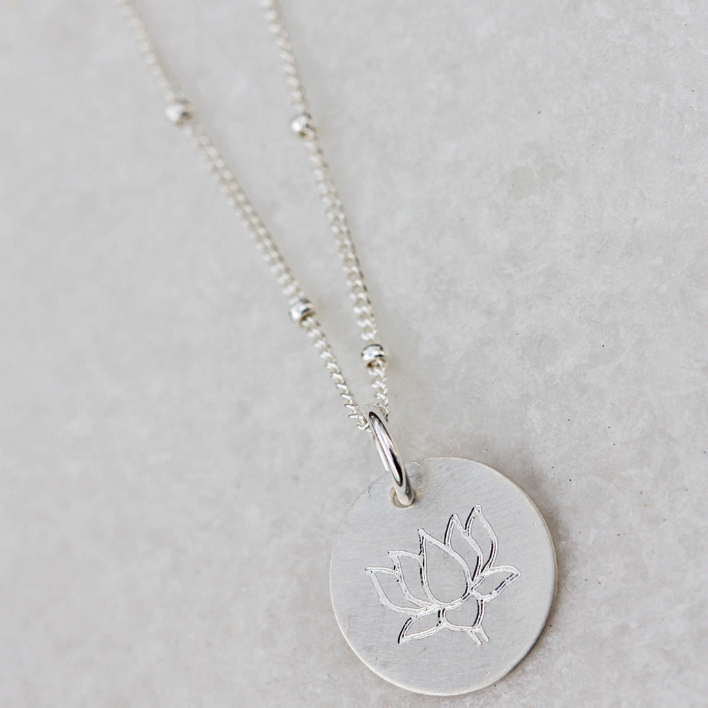 Lotus Flower in Sterling Silver