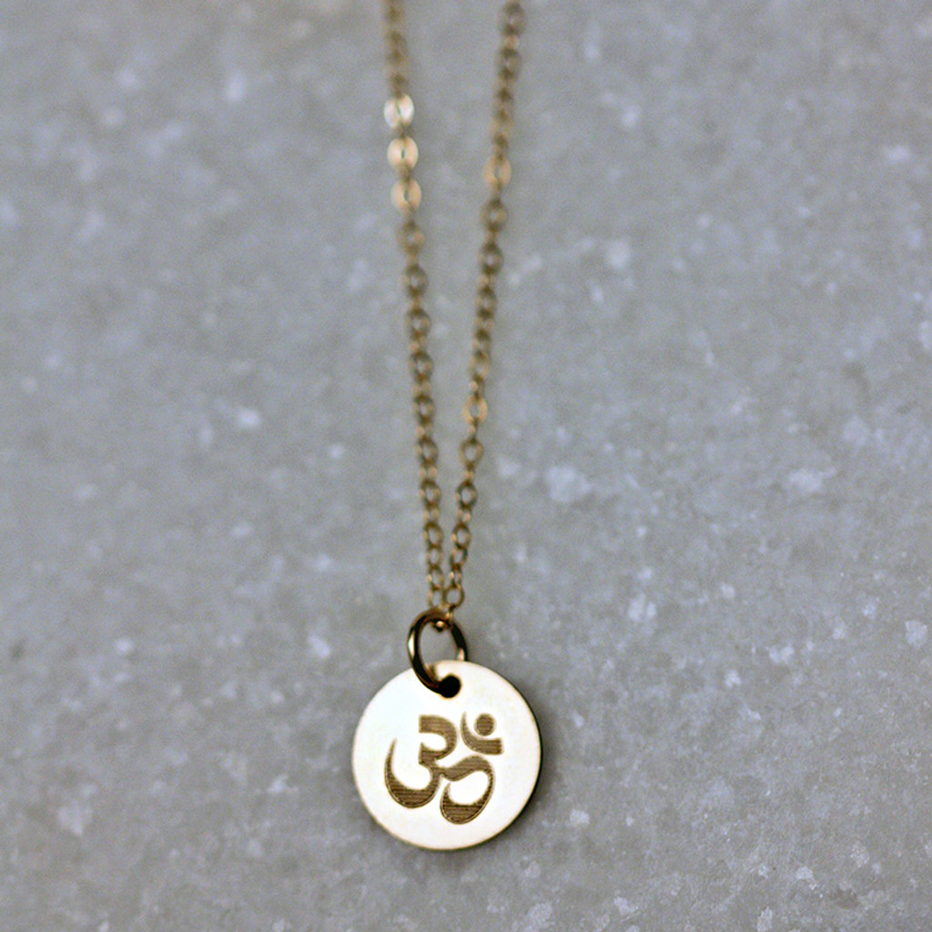 Om Disc Charm/Necklace