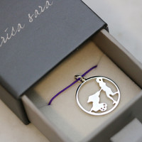 Personalized Silhouette Charm Necklace
