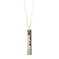 San Francisc Marathon Elevation Necklace. Sterling silver. Fine cable chain.
