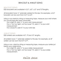 Anklet sizings