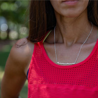 New York City Marathon Elevation Profile ID Necklace