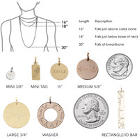 Marine Corps XXVI.II Washer Charm/Necklace