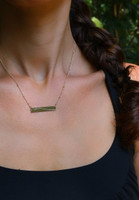 Marine Corps Marathon Elevation Line ID Necklace
