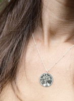 Life With You Is A Beautiful Ride engraved necklace. Shown in sterling silver on satellite chain.