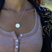 Custom mantra. The Light Is Within You. Sterling on cable chain.