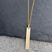Atlanta Olympic Marathon Trials elevation profile necklace. Shown in gold fill on cable chain.