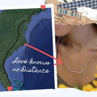Distance ID Necklace in sterling silver