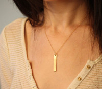 Eshet Chayil Rectangle Charm/Necklace