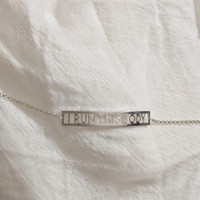 I RUN THIS BODY handcrafted sterling silver anklet.