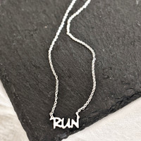 RUN necklace. Sterling silver. Handcrafted.