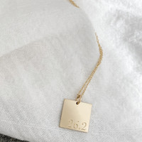 26.2 Square Charm/Necklace