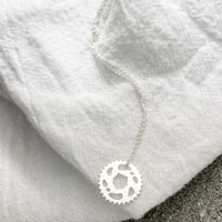 Bike Chain Ring Necklace