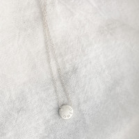 """""""OVERCOME"""" bead necklace in sterling silver."""