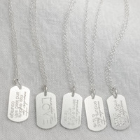 Made To Move personalized necklace. Sterling silver. Shown in cable chain.