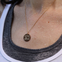 Courage, Love, Run, Believe 26.2 Necklace