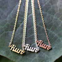 Run necklace