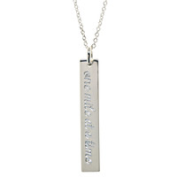 One Mile At A Time engraved necklace. Sterling silver.