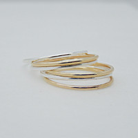 Sterling & Gold Filled Stackable Rings (each sold separately)