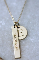 namaste with added Initial charm