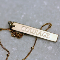 COURAGE in Gabriola font.
