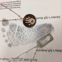 Engraved from actual baby prints!