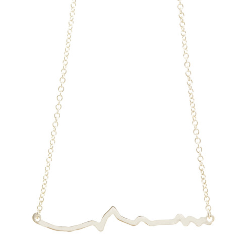 Big Sur Marathon Elevation Profile necklace.