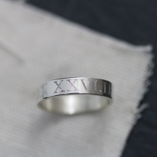 Sterling silver handcrafted ring engraved with your half marathon, marathon and triathlon details.