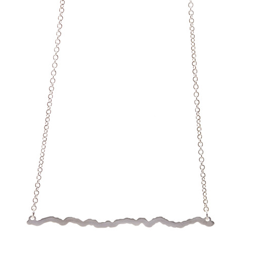 Huntersville Half Marathon Elevation Profile necklace