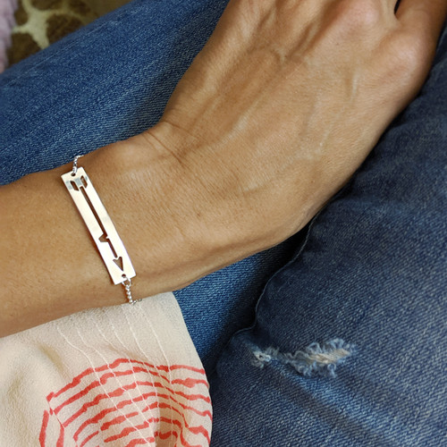 BRAVE Like Gabe hand crafted sterling silver bracelet.