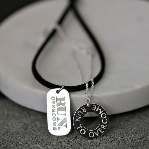 RUN TO OVERCOME Race series necklaces