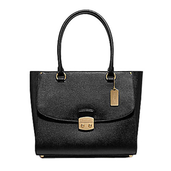 Coach Avary CrossGrain Leather Large Tote Bag Color IM- Black