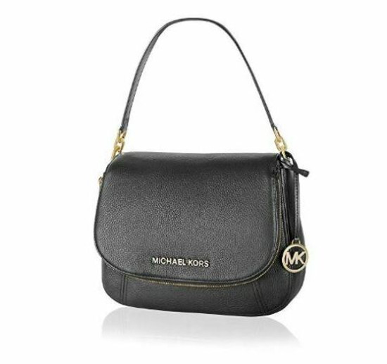 Michael Kors Leather Shoulder Crossbody  Bedford Handbag Black