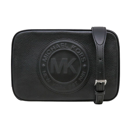 Michael Kors Fulton Sport Crossbody Leather Bag Signature Black Logo 2