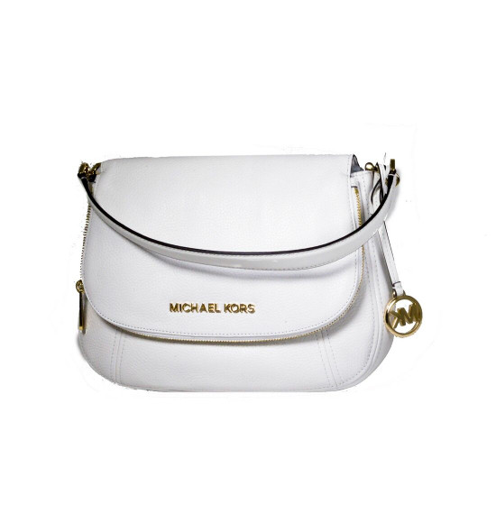 Michael Kors Leather Shoulder Crossbody  Bedford Handbag White