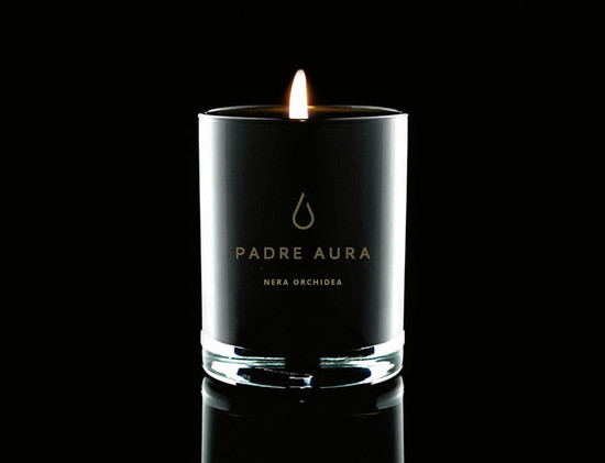 Padre Aura Nera Orchidea Triple Scented Soy Candle 400G