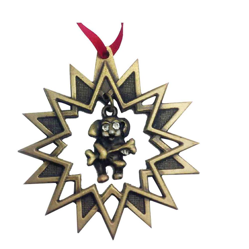 Rocking Doggy Silver Ornament