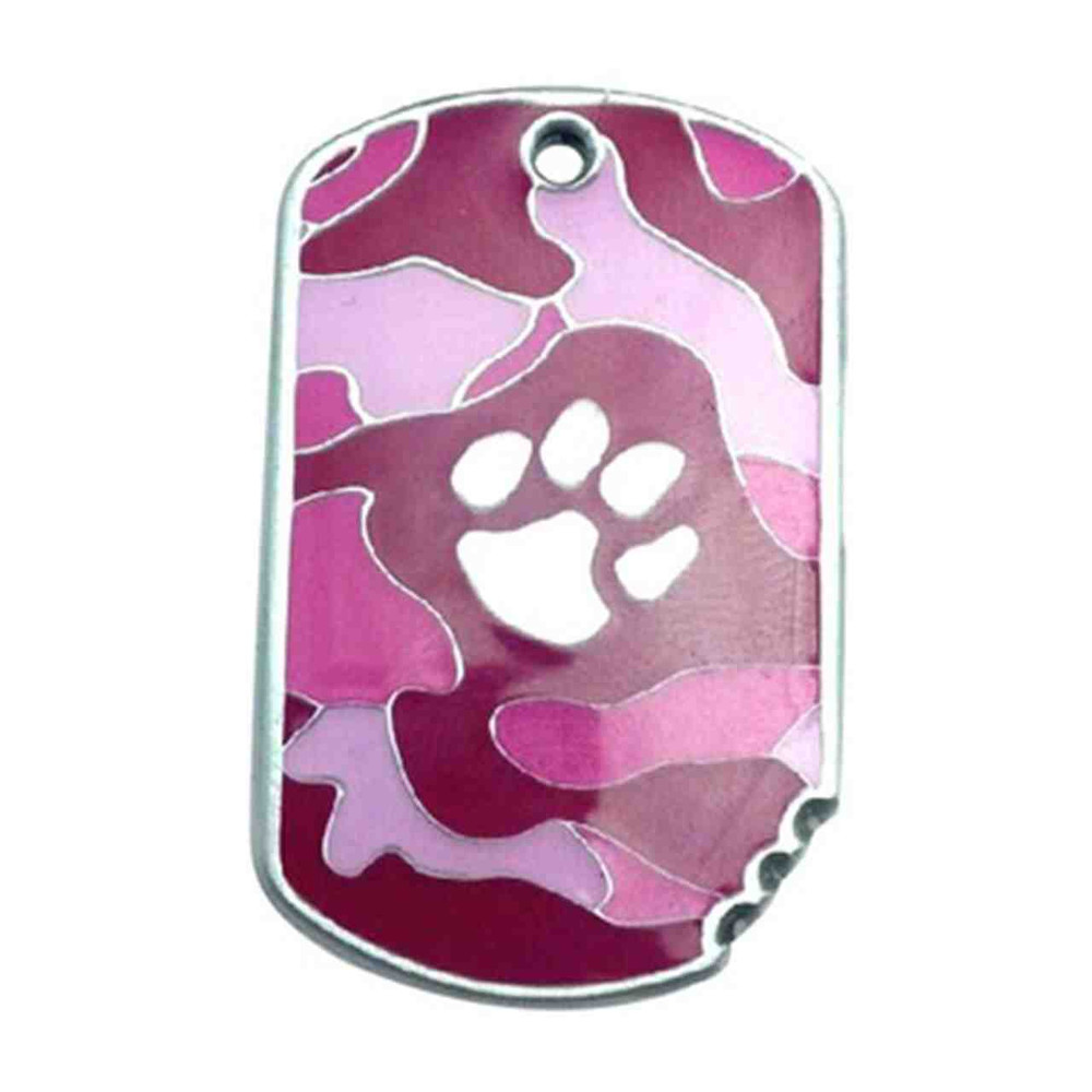 Pink camo Military ID Tag - Free Shipping