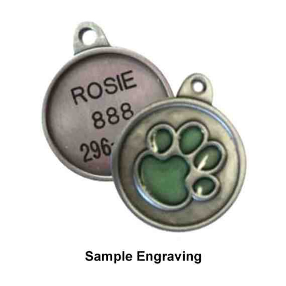 Pink Flower ID Tag - Free Shipping