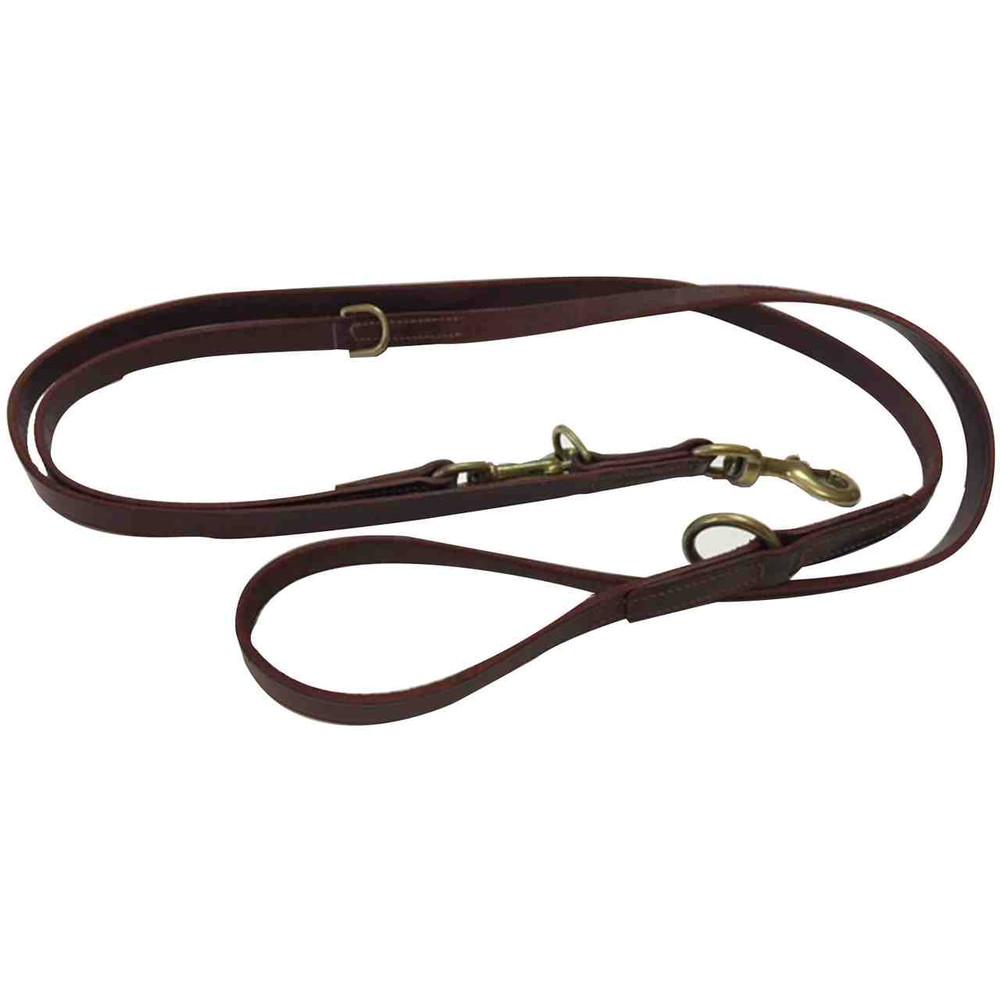 leather training leash