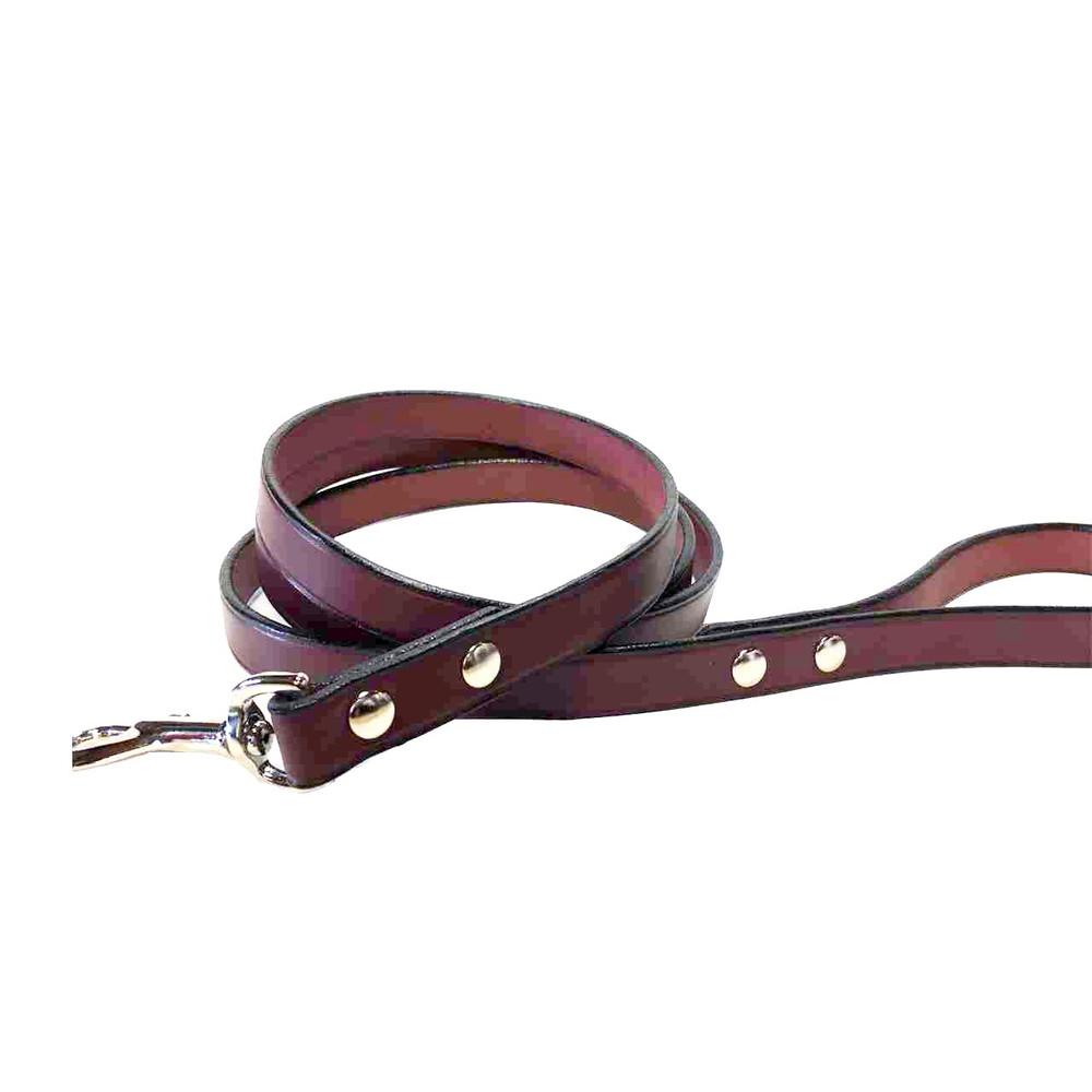 Burgundy Leather Leash