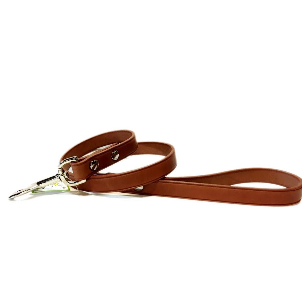 Mocha Leather Leash