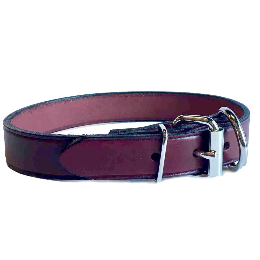 Burgundy Leather Collar