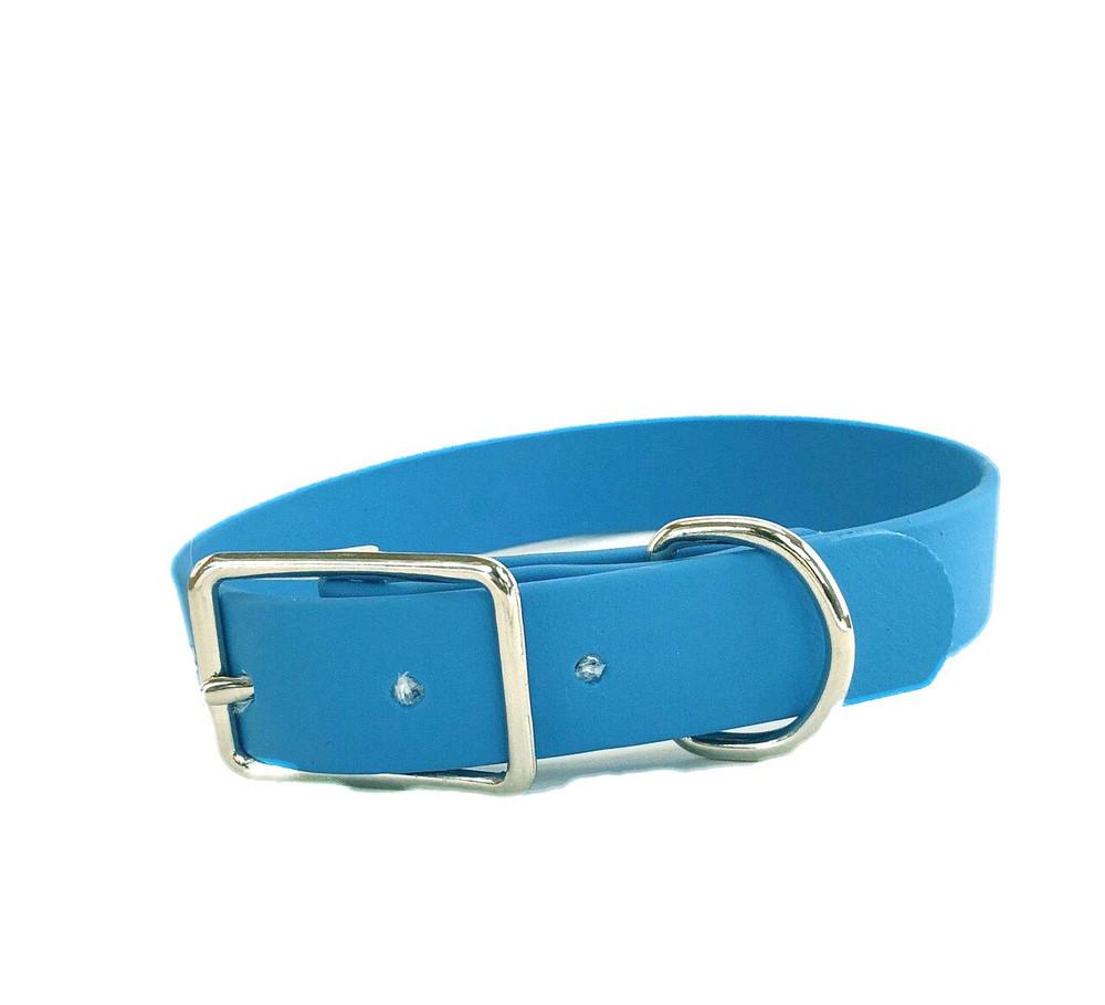 Sky Blue Vegan Leather Collar