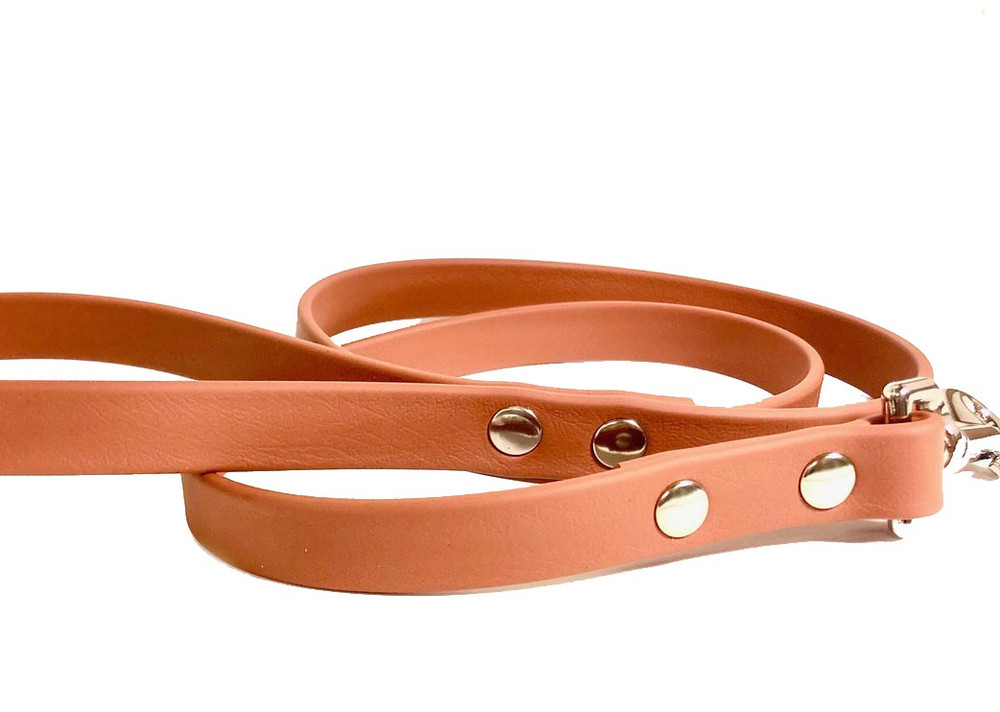 Camel vegan leather leash