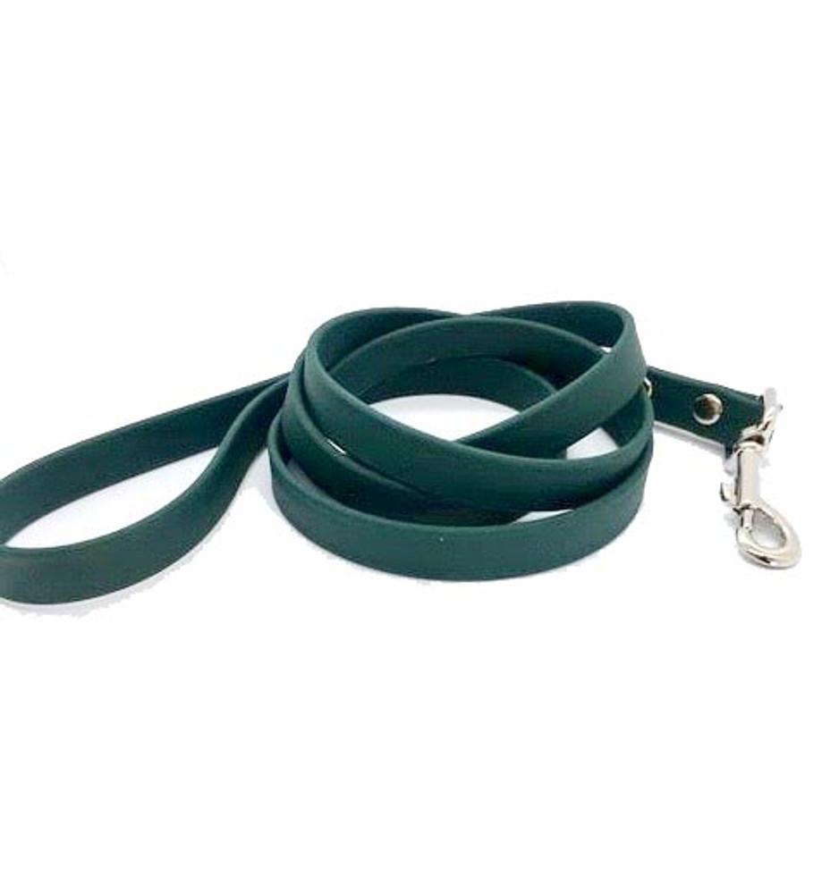 Hunter Green Vegan Leather Leash