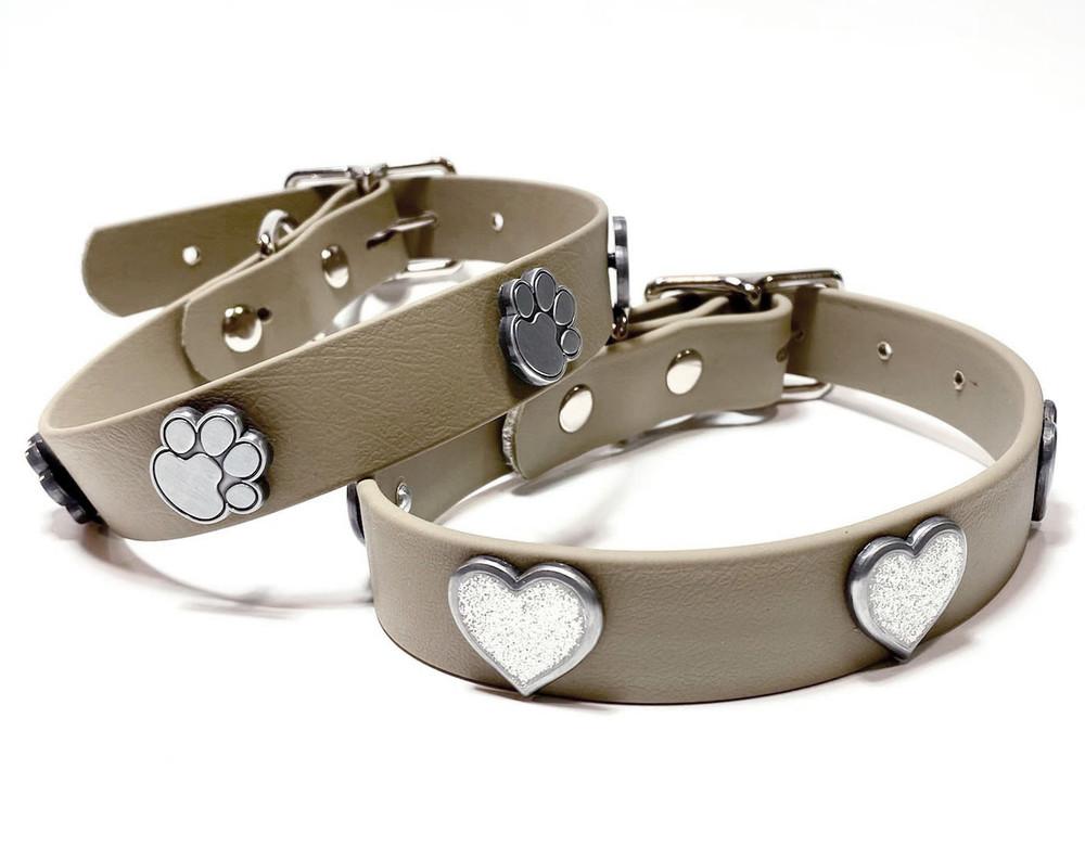 Desert vegan leather collar with decorations