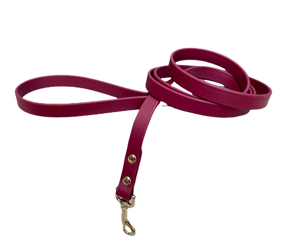 Burgundy Vegan Leather Leash