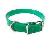 Emerald green dog collar