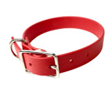 Red Vegan Leather Collar